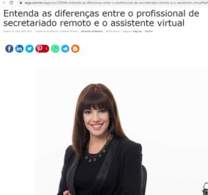 diferenças entre o profissional de secretariado remoto e o assistente virtual