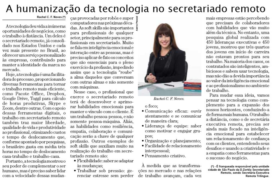 artigo_rachel_neves-a humanização da tecnologia no secretariado remoto